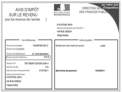 Impots Le Revenu Fiscal De Reference Rfr